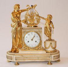 "A fine french Louis XVI period ormolu clock, signed ""Ridel à Paris"",18th century . For sale on Proantic by Denoyelle antique #ormolu #clock #LouisXVI"