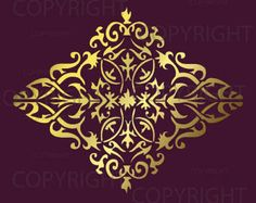 Large Wall Damask STENCIL Pattern FAUX MURAL by Lightsforever