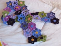 flower scarf--love these colors!