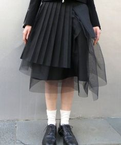 this is the kind of thing I was trying to make when I was experimenting with refashioning....noir kei ninomiya | 3O-S005-051 チュールギャザー(Skirt )