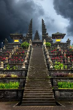 Besakih Temple, Bali, Indonesia, Integrity and green for all are a most to stop genocide and destruction of our environment, 95% of humanity lives in ignorance and a few stinky assholes are controlling the world by economics, non renewable energies, non o