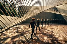 Temporary ECO Museum Pavilion constructed of rope by MMX Studio, Mexico City
