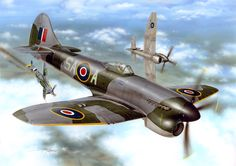 Hawker Tempest Mk V by Stan Hajek Ww2 Aircraft, Fighter Aircraft, Military Aircraft, Fighter Jets, Aircraft Images, Hawker Tempest, Hawker Typhoon, The Spitfires, Aircraft Painting