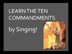 Here's a song (starting at about minutes) to help you memorize the Ten Commandments. I hope you also listen to my short introduction. Sunday School Themes, Sunday School Lessons, Bible Study Crafts, Ten Lepers, Sunday Song, Bible Songs, Preschool Bible, Christian Crafts, 10 Commandments