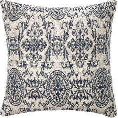 Add a stylish finishing touch to your living room sofa or guest bed with this chic pillow, showcasing a damask medallion pattern.Prod...