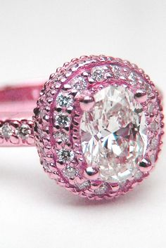pink engagement ring? Perhaps. AWESOME
