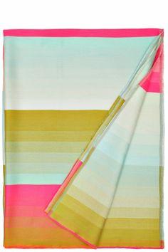 Colour Light Blue/ Pink Plaid Throw