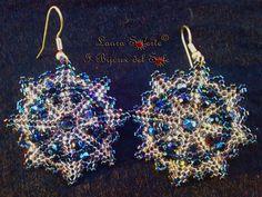 Orecchini Lucky Star con perline Miyuki e mezzi cristalli Swarovski. Prezzo 23 euro. Disponibile in vari colori.