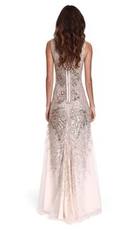 SCALA Embellished Rose Gown | Hire Designer Dresses and Evening Gowns | CHIC-BY-CHOICE.COM