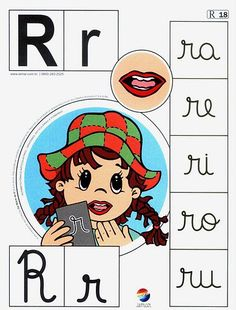 See the colorful Portuguese alphabet to print, it is complete with the letter … - Modern Teacher Supplies, Phonological Awareness, Types Of Lettering, Teaching Spanish, Speech Therapy, Special Education, Preschool Activities, Homeschool, Comics