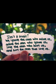 """Ironic? Don't know if it's """"ironic"""" but it's kinda funny now (not really) I told the guy that hit on me the other day, that I was seeing someone so he'd leave me alone. The person I told him I was seeing was YOU!! I told you about it but I didn't tell you that. Maybe I should have (?)"""
