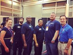 "The ""Mesquite Rangers"" from our Mesquite Regional Wastewater Treatment Plant competed in the national level operations challenge at the #WEFTEC2016 conference. Today they will be competing in the Safety Collection and Pump Maintenance competitions. We are super proud of these guys!  Pictured from left to right are Jenna Covington (Assistant Deputy Director of Wastewater) Charlie Lloyd Keenan Towns Rey Davila (Team Captain) James Cantrell and Thomas W. Kula (Executive Director)"