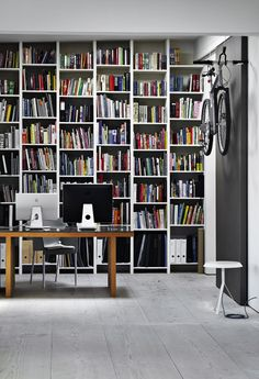 home office + library