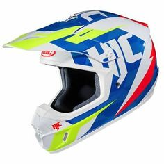 Off-Road//Dirt Motorcycle Helmet HJC CS-MX II Dakota Black//White