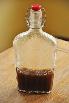 Make a gluten-free homemade worcestershire sauce made with apple cider vinegar, soy sauce, ginger, mustard and brown sugar.