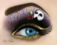 Small works of art on the eyelids are possible -- Fancy Makeup