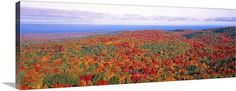 Fall Summit Peak Porcupine Mountains Wilderness State Park MI