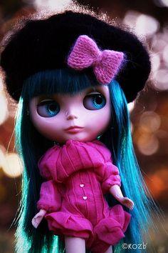 beret noir roz
