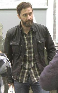 One of my very favorite photos of Richard Armitage. No gloss, no hair, no makeup, just a 40 year old man in a plaid shirt with scruffy hair, a beard, wrinkles, concentrating, at work. The Man Himself. LOVE.
