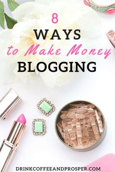 8 Ways to Make Money Blogging! Awesome ways you haven't thought of.  A must read FREE guide!