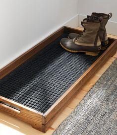 diy furniture Find the best Everyspace Recycled Waterhog Boot Mat at . Our high quality home goods are designed to help turn any space into an outdoor-inspired retreat. Home Organization, Organizing Ideas, Woodworking Organization, Sweet Home, New Homes, Boot Tray, Furniture Ideas, Antique Furniture, Modern Furniture