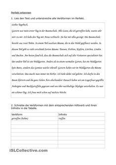 PRÄTERITUM - regelmässige und unregelmässige Verben Theorie und ...