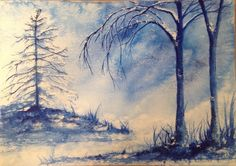 Snow is Coming. Watercolour. See more at https://www.artfinder.com/tina-hiles