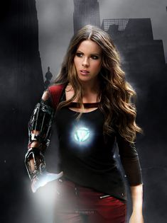 Gender swapping Avengers by Disimilis - Kate Beckinsale as Iron Man