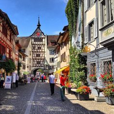 - one of my favorite small towns  SteinAmRhein, Switzerland- we bought a handpainted signed Christmas ornament here