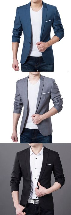 New Suit Jacket For Men Terno Masculino Suit Blazers Jackets Traje Hombre Men's Casual Blazer