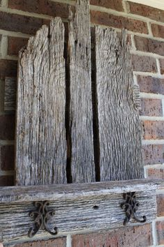 Weathered wood shelf