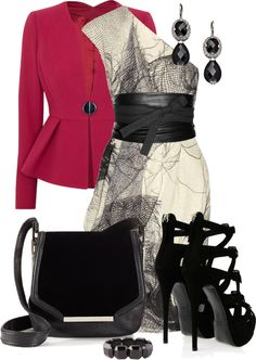 """Peplum"" by corenna-obrien ❤ liked on Polyvore"