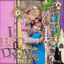 I had a dream - MouseScrappers - Disney Scrapbooking Gallery
