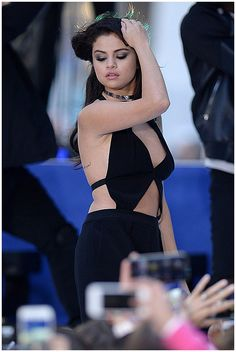 """Selena Gomez performs on NBC's """"Today"""" at Rockefeller Plaza on October 12, 2015 in New York City"""