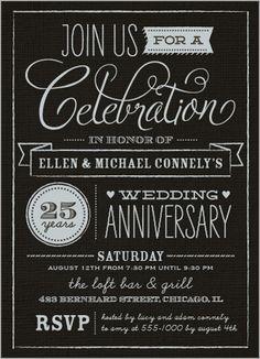Wonderful Years Wedding Anniversary Invitation