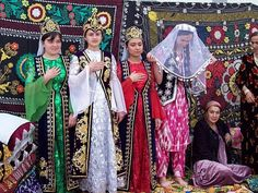 Have a look on Beautiful brides around Asia and their traditional wedding dresses. All countries have their own bridal beauty which are unexplainable. Traditional Wedding Dresses, Traditional Outfits, Korean Hanbok, Thinking Day, Folk Costume, Types Of Dresses, Bridal Beauty, Central Asia, Cambodia