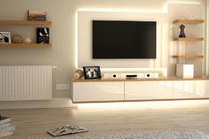 Sistemas de televisión suspendida en la decoración de interiores