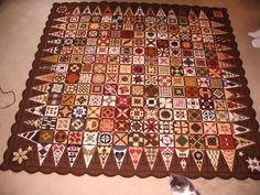 Chocolate Dear Jane quilt...love it!