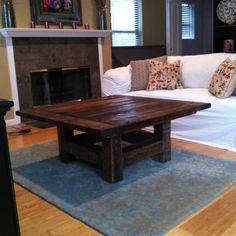 40x40 Reclaimed coffee table. $400.00, via Etsy.