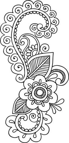 Grand Sewing Embroidery Designs At Home Ideas. Beauteous Finished Sewing Embroidery Designs At Home Ideas. Mandala Coloring, Colouring Pages, Adult Coloring Pages, Coloring Books, Henna Patterns, Embroidery Patterns, Hand Embroidery, Henna Drawings, Art Drawings