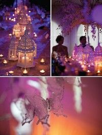 That's the idea that I have to set up with the lanterns on the long tables.