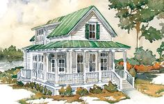Hunting Island by Southern Living House Plans:  cute plan, just make all the rooms bigger & add shower & closets to Master.