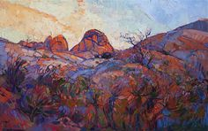 Contemporary Impressionism Art Gallery in San Diego California Featuring the Artwork of Erin Hanson Erin Hanson, Oil Painting Texture, Modern Impressionism, Thing 1, Oil Painting For Sale, Landscape Paintings, Landscapes, Oil Paintings, Art Projects