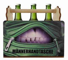 Bierträger / Männerhandtasche, originelles Geschenk für Vatertag oder sonstige Anlässe Beer Bottles, Original Gifts, Guy Gifts, Father's Day, Crate, Funny Stuff, Handbags