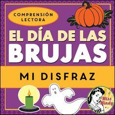 Boom Cards - { Mi Disfraz } Spanish Halloween Reading Comprehension Passage - El Día de las Brujas