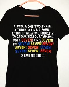 Friends TV show tee shirt Seven tee-shirt SEVEN by giggletee