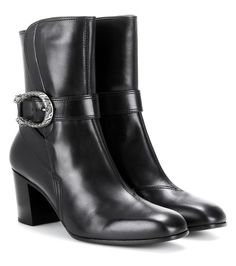 Gucci Leather ankle 6.5cm boots Black $169.00