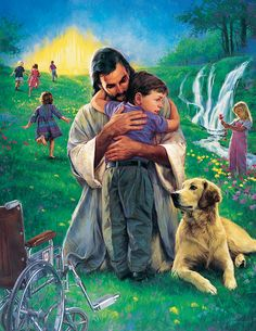 """""""Little Johnny Made Whole"""" by JESUS (Painting by Nathan Greene)"""