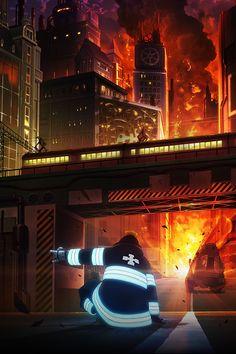 TVアニメ『炎炎ノ消防隊』 Anime Soul, Animes Wallpapers, Cute Wallpapers, Otaku Anime, Manga Anime, Fire Brigade Of Flames, Boku Academia, Shinra Kusakabe, Blue Springs Ride