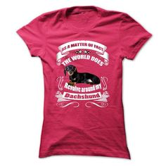 Dachshund T Shirts, Hoodies, Sweatshirts. BUY NOW ==► https://www.sunfrog.com/Pets/Dachshund-60407508-Ladies.html?41382